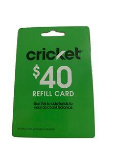 cricket $40 refill card