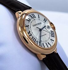 Cartier Ballon Bleu Jumbo 42mm W6900651 18K Rose Gold Leather Watch *BRAND NEW*