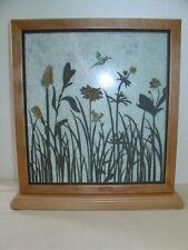 Handmade Art Sandblast Wildflower Scene Lighted Display Gift Marble
