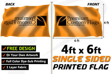 4'x6' Full Color Single Sided Custom Flag with Grommets