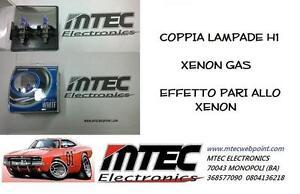LAMPADE EFFETTO XENON H1 12V OMOLOGATE H1 SUPER WHITE 6000K HID BULBS GHIACCIO