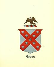 *Great Coat of Arms Goss Family Crest genealogy, would look great framed!