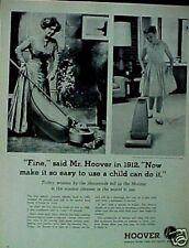 1963 Hoover Vacuum Sweeper Vintage Household Appliance Memorabilia Trade Art AD