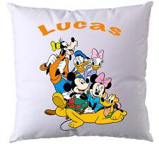 Coussin Disney La bande a Mickey personnalisé avec prénom