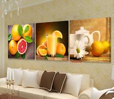 Unframed Fruit Orange Juice Modern Canvas Wall Art Picture Prints Kitchen Decor