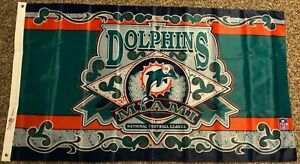MIAMI DOLPHINS END ZONE 3x5 flag new superior qlty GENUINE NFL Lic us seller