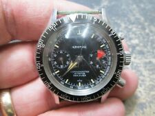 MENS RARE Croton CHRONOMASTER AVIATOR SEA DIVER Running WRIST Watch