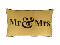Vargottam EmbroideredMr & MrsLumbar Decorative Throw Pillow Cover-RCG