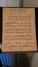 Peter de Rose, arr. Savino: Deep purple, for piano solo (Robbins)