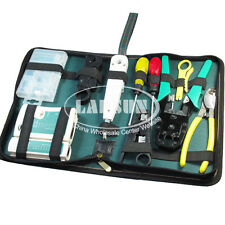 RJ45 RJ11 LAN Network Tool Set Kit Cable Tester Crimper Plug Plier Wire Cutter