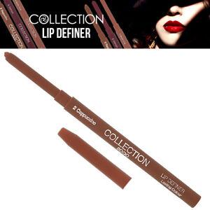 Collection Twist Up Lip Definer Long Lasting Lipstick Colour Makeup Cappuccino
