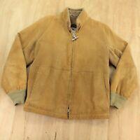 vtg MIGHTY MAC lined wide wale corduroy jacket sz 42 talon t bar zipper