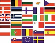 EU Country Flag Pack Car Decals Stickers
