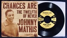 JOHNNY MATHIS~Chances Are~Picture Sleeve & 45-COLUMBIA #4-40993-Soft Rock-Jazz