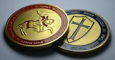 Pair of Masonic Knights Templar 24ct Gold Coins with Enamel. Mason/Freemason