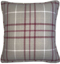 A 16 Inch cushion cover in Laura Ashley Keynes Check Cranberry Fabric