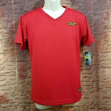 Gold'S Gym Authentic V-Neck Shirt Knights Apparel Size Large Gym-Dri Red Nwt
