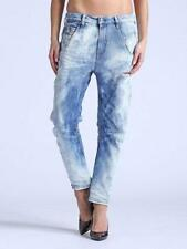 Boyfriend Ripped, Frayed High Rise Jeans for Women