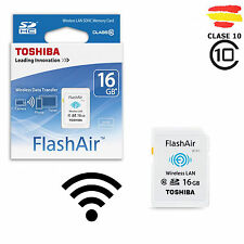 TARJETA MEMORIA 16GB TOSHIBA WIFI SD HC USB 16 GB ORIGINAL SDHC CAMARA FlashAir