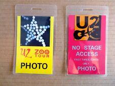 U2 2 x Backstage Laminates, Press Pass - 2 Tours Vip
