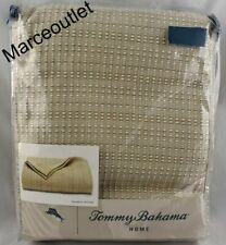 Tommy Bahama Bamboo Woven Cotton Full / Queen Bed Blanket Beige