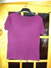 M&Co - PURPLE COTTON TOP. SIZE 12. MEDIUM. EX CON