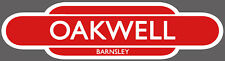 BARNSLEY RAILWAY TOTEM FOOTBALL SIGN. INSIDE OR OUTSIDE USE.OAKWELL