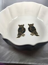 Patch Nyc for Target Ceramic Owl Bowl, 11 Inches Wide, Heavy, Used