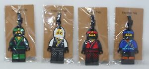 Set of 4 Lego Ninja Luggage Tags Lot of Finex Rubber Name Badges 410C_NJG_Tags