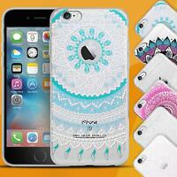Handy Hülle Mandala Design Case Schutzhülle Motiv Cover Silikon Tasche Bumper