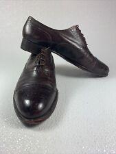 VTG Florsheim Royal Imperial Brown Cap Toe Dress Oxfords Shoes 8.5 D 97317