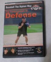 Baseball the Ripken Way The Fundamentals of Defense DVD 2005 Cal FREE SHIPPING