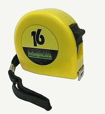 16' Lockable 5/8 wide tape measure with inch and mm cm measuring increment ruler