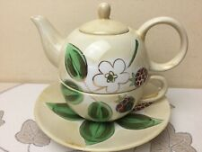 Whittard of Chelsea Tea for One Teapot Cup & Saucer, Lustre Finish.