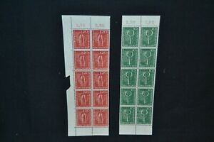 Germany 1955 West European Postage Stamp Exhibition set in u/mint blocks of 10