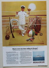 American Export Lines Cruise Ship  1963 Magazine Print Ads 7 x 10