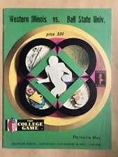 BALL STATE UNIV @ WESTERN ILLINOIS UNIV COLLEGE FOOTBALL PROGRAMS  1971 EX