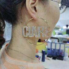 USA Custom Name Earrings Name  Hoop Earrings Personalized JEWELRY