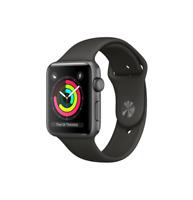 Apple Watch Gen 3 Series 3 42mm Space Gray Aluminum - Black Sport Band 3D215LL/A