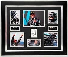 Lewis HAMILTON Signed & Framed Mercedes Photo Display AFTAL UACC RD COA