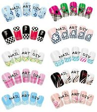 Nail Art Water Transfer Stickers-Decals-Adesivi FRENCH-Ricostruzione Unghie !!!