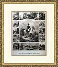 Gen. William Henry Harrison Campaign Reproduction Poster Custom Framed