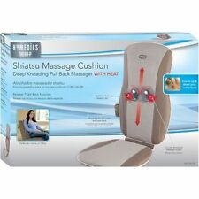 Homedics Shiatsu Back Massage Cushion W/Heat Deep Kneading Action Pain Spine