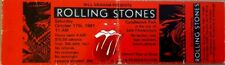 The Rolling Stones - 1981 Concert Ticket. Candlestick Park, San Francisco