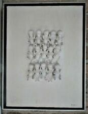 "Vintage-1971 Original Mixed Media ""15 Crying Babies"" Anti-Abortion Art-Signed"