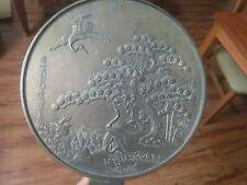 JAPANESE BRONZE MIRROR 柄鏡 CRANE TURTLE PINE PLUM BAMBO, EDO PERIOD (1603-1868)