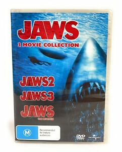 Jaws DVD 3 Movie Collection Jaws / Jaws 2 / Jaws 3 NEW Region 4 Free Postage