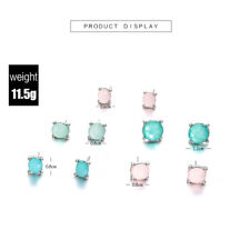 5Pairs/Set Colorful Crystal Stud Earrings Set for Woman Boucle D'oreille Jewelry