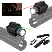Green/Red Laser Sight LED Tactical Hunting Flashlight Combo Rail Mount Gun Light