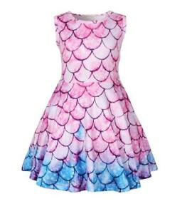 Kids Dressing Summer Girls Mermaid Dress Ice Silk Fabric Particularly Cool
